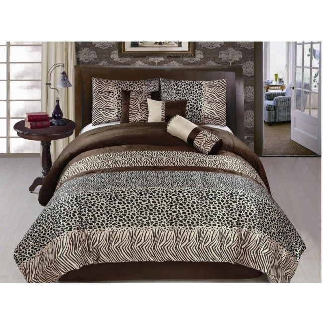 Luxury Animal Print Safari Design Comforter Set